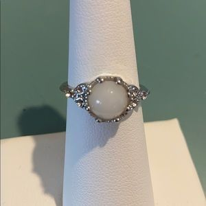 Jewelry - 925 sterling silver ring sz 6 w/white stone!